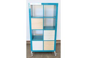 Aqua Rolling Shelf Unit