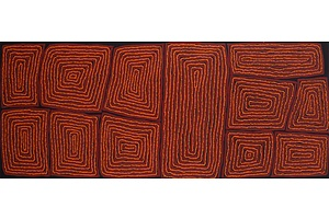 Thomas Tjapaltjarri (c1964-) Tingari,  Acrylic on Canvas