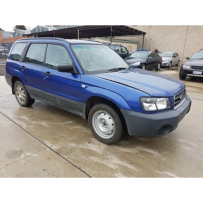 8/2003 Subaru Forester X MY03 4d Wagon Blue 2.5L