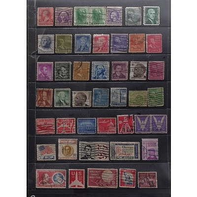 Sheet of United States Postal and Air Mail Stamps, Including 1991 Christmas Stamps, 1863-1963 5c Emancipation Proclamation Stamp and More