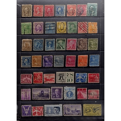 Sheet of United States Postal and Air Mail Stamps, Including 4c National Apprenticeship Program Stamp and More
