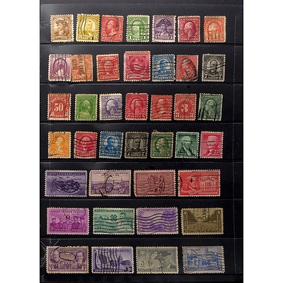 Sheet of United States Stamps, Including 3c Armed Forces Reserve Stamp, 7c McKinley Stamp and More