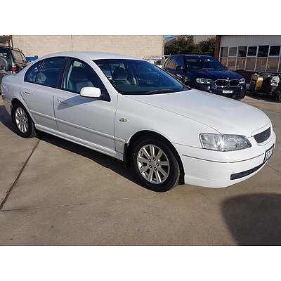 8/2005 Ford Falcon Futura BA MKII 4d Sedan White 4.0L