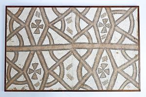 Framed Polynesian Tapa Cloth