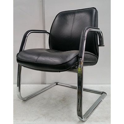 Office Chairs- Lot Of two Black faux Leather Executive Chairs