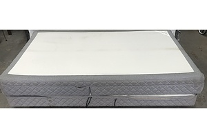 Single Bed Base and Mattress with Electric Fold and Tilt Mechanism
