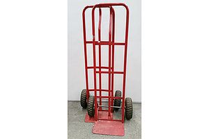 Two Red Hand Trolleys