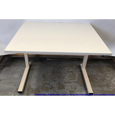 Height Adjustable Veneer Desk