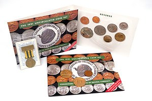 1991 Uncirculated Coin Set, Australia, 1901-2001 Federation Medallion and More