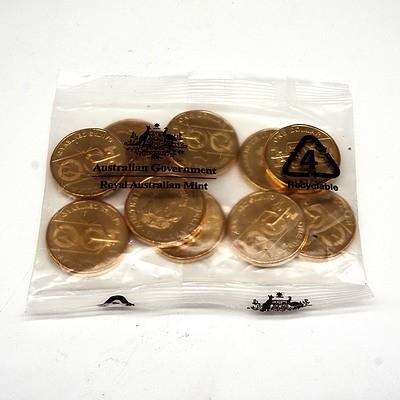 RAM Sealed Packet of Ten 2020 $1 Qantas Centenary Coins