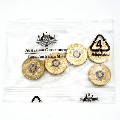 RAM Sealed Packet of Five 2019 $2 Police Remembrance Coins