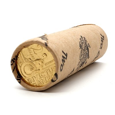 RAM Sealed Roll of Twenty Five 2018 $2 Invictus Games Coins
