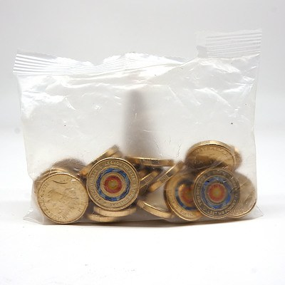 Sealed Packet of Twenty Five 2017 $2 Mosaic Lest We Forget Coins