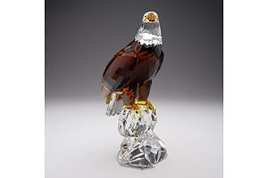 "Limited Edition Swarovski Crystal, ""The Bald Eagle"" in Original Box, 6011/10000"