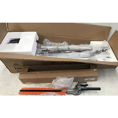 62CC 2in1 Pole Chainsaw Hedge Trimmer - Brand New