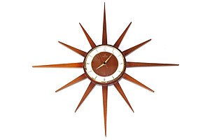 Retro Junghans Teak Electronic Battery Operated Wall Clock
