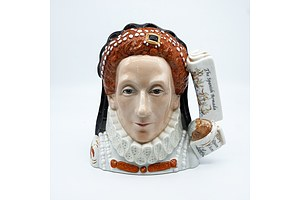 Limited Edition Royal Doulton Queen Elizabeth I Character Jug with Certificate, Signed, D7180