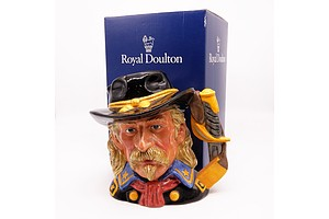 Boxed 1997 Royal Doulton General Custer Character Jug, D7079