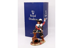Royal Doulton Figurine of the Musketeer D'Artagnan with Box