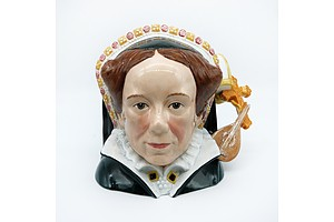 Royal Doulton Queen Mary I Character Jug with Certificate, Signed, D7188