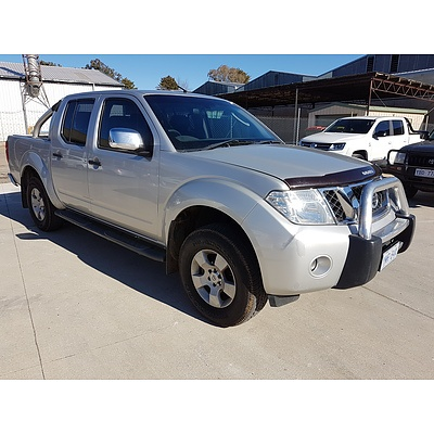 3/2009 Nissan Navara ST-X (4x4) D40 Dual Cab P/up Silver 2.5L