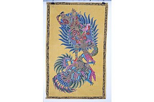 Two Batuan Paintings, Garuda, Tempera on Linen (Unframed)