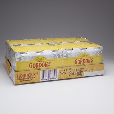 Gordon's Gin, Tonic and Lemon Case 24 x 375ml Cans