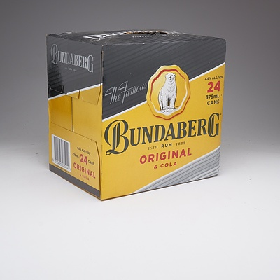 Bundaberg Original Rum and Cola Case 24x 375ml Can