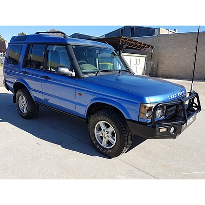 1/2003 Land Rover Discovery  SERIES II 4d Wagon Blue 2.5L