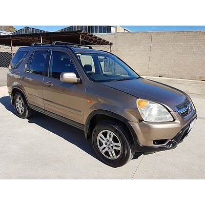 4/2002 Honda Crv (4x4) Sport MY03 4d Wagon Gold 2.4L
