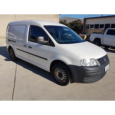 8/2008 Volkswagen Caddy MAXI 2K MY09 5d Van White 1.9L