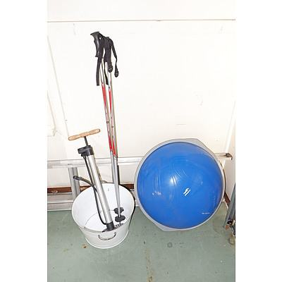 Ski Poles, Bike Pump, Tin Tub and a Joinfit