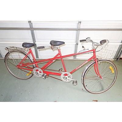 Vintage Tandem Bike with Sturmey Archer Three Speed Hub