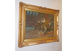 Arthur David McCormick FRGS (Ireland, UK 1860-1943) Treason, Oil on Canvas, Original Gilded Wood and Moulded Gesso Frame