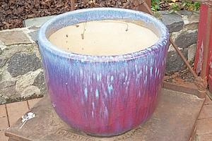Good Flambe Stoneware Glazed Planter