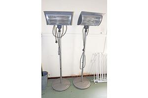 Two Mistral Outdoor Electric Heaters