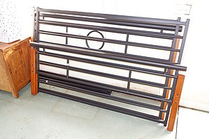 Metal and Timber Queen Bed Frame