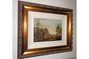 19th Century European School, Oil on Panel, Signed with Initials JC