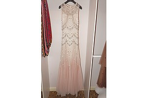 1920s Tulle and Beadworks Evening Gown