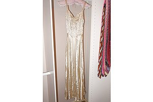 1920s Silk and Diamante Evening Gown