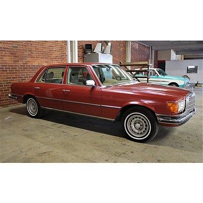 1/1979 Mercedes-Benz 450 SEL 4d Sedan Maroon 4.5L V8