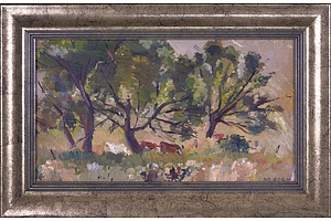 Margaret Agnes Coen (1913-1993) Australian Pastoral Landscape, Oil on Canvas Board