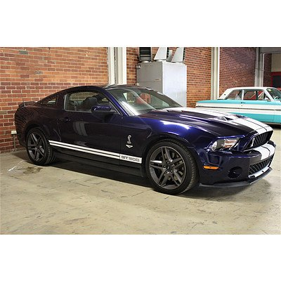 06/2010 Ford Mustang Shelby GT500 MY11 2d Coupe Blue 5.4L V8 Supercharged