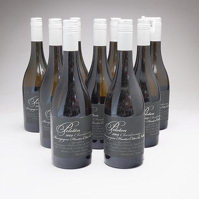 Lot of x 9 750ml Bottles of 2009 Peloton Bourgogne Chardonnay - RRP: $348