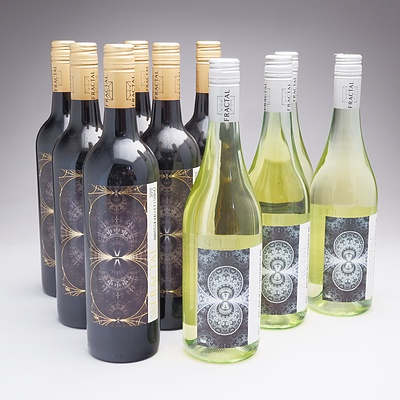 Ten Bottles Mixed Fractal Wines