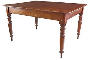 Antique Australian Cedar Kitchen or Small Dining Table Circa 1880