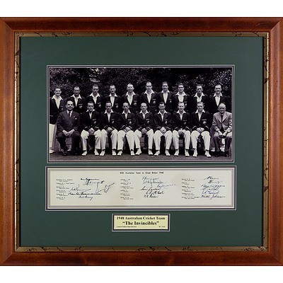 1948 Australian Cricket Team 'The Invincibles'  Limited Edition Reproduction Print