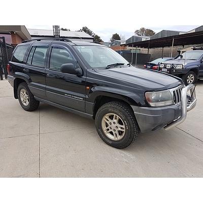 5/2005 Jeep Grand Cherokee Laredo (4x4) WG 4d Wagon Black 2.7L