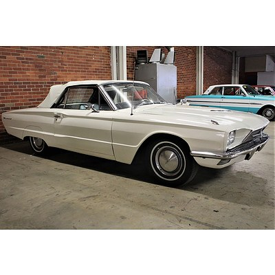 01/1966 Ford Thunderbird 2d Convertible White 6.4L