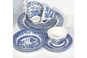 Collection Of Churchill Willow Pattern China
